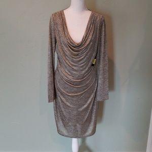 "Tahari metallic ""Lucy Dress"" size M NWT"